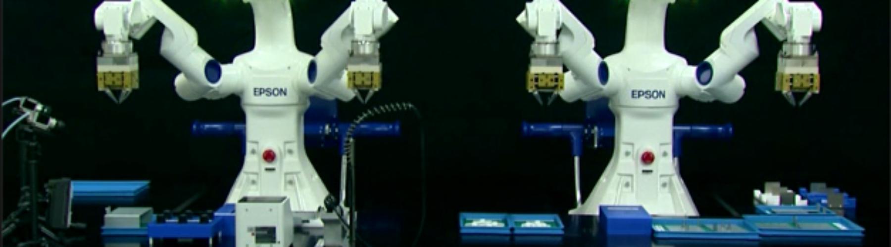 Robot Autónomo de 2 braços: Ver, Sentir, Pensar e Reagir