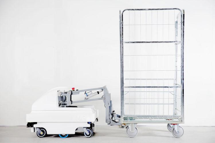 MiR100 Hook c/ carro de transporte