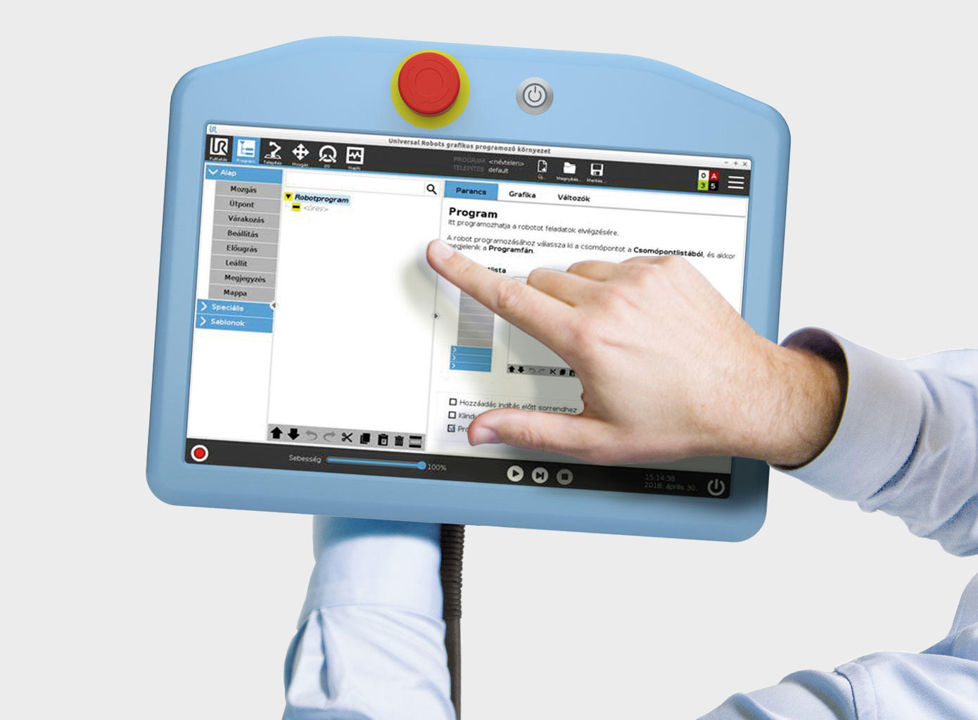 Consola UR Polyscope